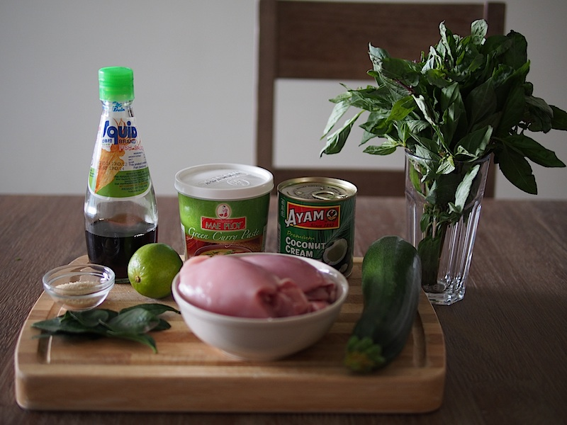 Thai green curry ingredients 2